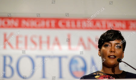 Atlanta city councilwoman and mayoral candidate Keisha Lance Bottoms speaks at an election night party in Atlanta, early . Nearly a dozen candidates are competing to succeed term-limited Atlanta Mayor Kasim Reed. With so many contenders running, it's a safe bet that some of these elections won't be settled Tuesday. For any race in which no candidate wins more than 50 percent of the vote, the top two finishers will return for a runoff election Dec. 5