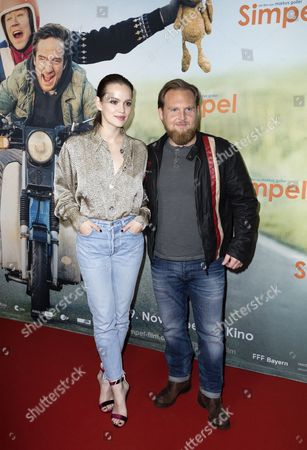 Emilia Schüle and Axel Stein