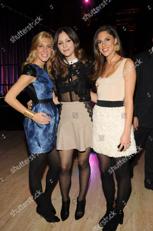 From left, Mary Anne Huntsman, recording artist Katharine McPhee and Abby Huntsman attend the 2012 Malaria No More International Honors on in New York