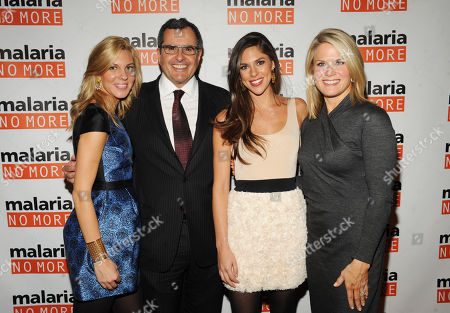 Stock Image of From left, Mary Anne Huntsman, Co-Founder and Chairman Peter Chernin, Abby Huntsman and Martha MacCallum attend the 2012 Malaria No More International Honors on in New York