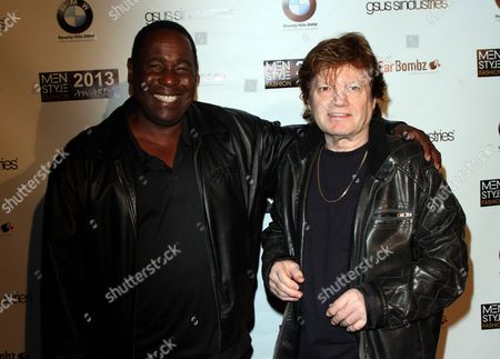 """Actor Ernest Harden Jr. and film producer Ilya Salkind seen at 2013 Men's Style Fashion Awards honoring Sam Sarpong """"Star of The Year"""" at Fatty's Bar and Restaurant on Saturday, Dec.21, 2013, in West Hollywood. California"""