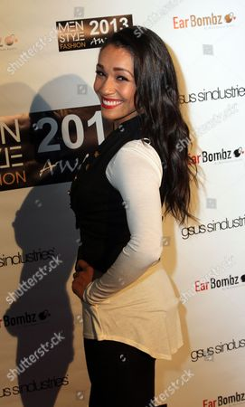 """Alia Kruz seen at 2013 Men's Style Fashion Awards honoring Sam Sarpong """"Star of The Year"""" at Fatty's Bar and Restaurant on Saturday, Dec.21, 2013, in West Hollywood. California"""