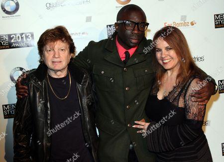 "Producer Ilya Salkind, Sam Sarpong and actress Deborah Moore seen at 2013 Men's Style Fashion Awards honoring Sam Sarpong ""Star of The Year"" at Fatty's Bar and Restaurant on Saturday, Dec.21, 2013, in West Hollywood. California"