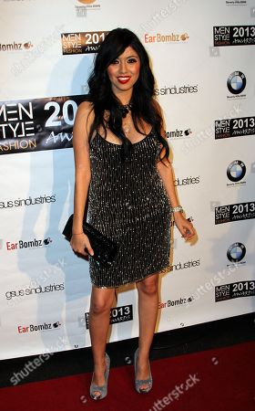 """Patricia Vega founder and fashion designer VVIGOURE seen at 2013 Men's Style Fashion Awards honoring Sam Sarpong """"Star of The Year"""" at Fatty's Bar and Restaurant on Saturday, Dec.21, 2013, in West Hollywood. California"""