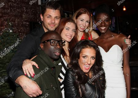 """Cast and crew of The Chosen One Sam Sarpong, Inessa Alex, Zeta Morrison and friends seen at 2013 Men's Style Fashion Awards honoring Sam Sarpong """"Star of The Year"""" at Fatty's Bar and Restaurant on Saturday, Dec.21, 2013, in West Hollywood. California"""