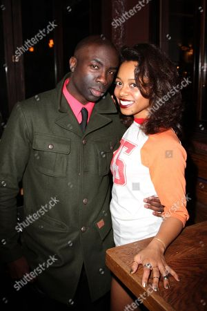 """Actors Lauren Pennington and Sam Sarpong seen at 2013 Men's Style Fashion Awards honoring Sam Sarpong """"Star of The Year"""" at Fatty's Bar and Restaurant on Saturday, Dec.21, 2013, in West Hollywood. California"""