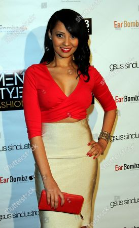 """Actress Deanna Marie Morris seen at 2013 Men's Style Fashion Awards honoring Sam Sarpong """"Star of The Year"""" at Fatty's Bar and Restaurant on Saturday, Dec.21, 2013, in West Hollywood. California"""