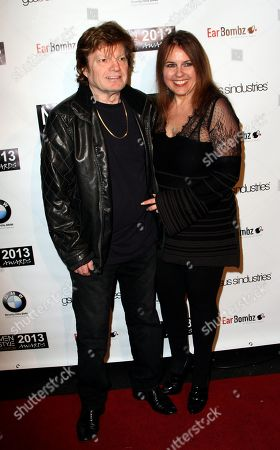 """Producer Ilya Salkind and actress Deborah Moore seen at 2013 Men's Style Fashion Awards honoring Sam Sarpong """"Star of The Year"""" at Fatty's Bar and Restaurant on Saturday, Dec.21, 2013, in West Hollywood. California"""