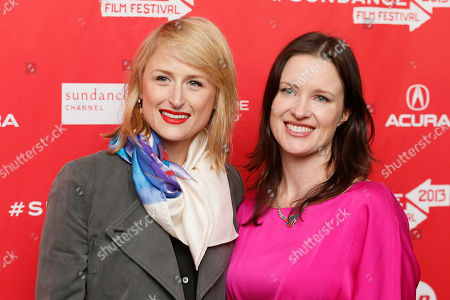 """Stock Photo of Cast member Mamie Gummer, left, and writer and director Liz Garcia, right, pose together at the premiere of """"The Lifeguard"""" during the 2013 Sundance Film Festival on in Park City, Utah"""