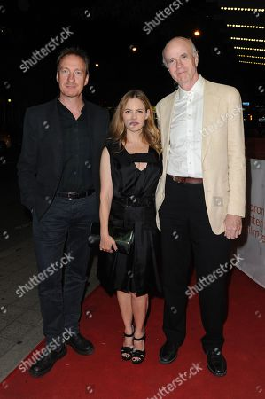 "Actors David Thewlis, from left, Jennifer Jason Leigh and Tom Noonan attend a premiere for ""Anomalisa"" on day 6 of the Toronto International Film Festival at the Princess of Wales theatre, in Toronto"
