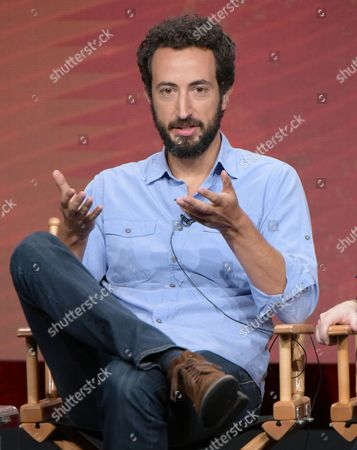 "Director Josh Kriegman participates in ""The Circus of Politics"" panel during the Showtime Critics Association summer press tour, in Beverly Hills, Calif"