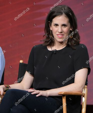 """Director Elyse Steinberg participates in """"The Circus of Politics"""" panel during the Showtime Critics Association summer press tour, in Beverly Hills, Calif"""