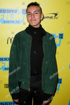 "Stock Image of Anthony Quintal arrives at the screening of ""Miss Stevens"" during South By Southwest at the Austin Convention Center, in Austin, Texas"