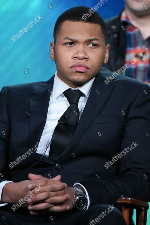"""Franz Drameh participates in the """"Containment"""" panel at the The CW 2016 Winter TCA, in Pasadena, Calif"""