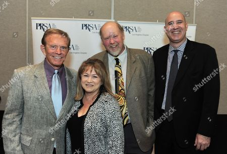 Bob Eubanks, Rita Tateel, President The Celebrity Source and PRSA-LA Assembly Delegate, Tim Estes and Stefan Pollack, President, The Pollock PR Marketing Group and PRSA-LA Assembly Delegate attend the 48th Annual PRism Awards on in Los Angeles