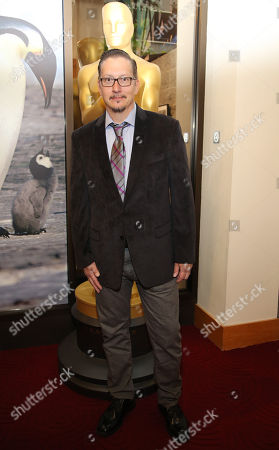 """Stock Photo of Stephen Prouty, who is nominated for an Academy Award for Best Makeup and Hairstyling for """"Jackass Presents: Bad Grandpa,"""" attends the 86th Academy Awards - Makeup and Hairstyling Reception on in Beverly Hills, Calif"""