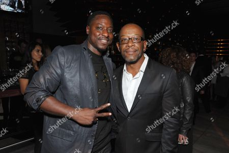 Dohn Norwood, left, and Lennie James attend the AMC, IFC, Sundance Channel Emmy After Party, on in West Hollywood, Calif