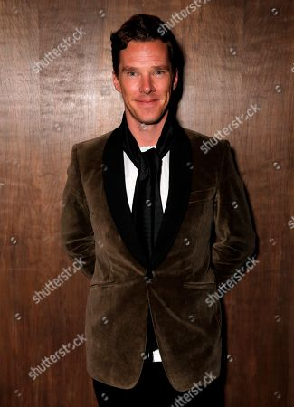 "Benedict Cumberbatch attends a cocktail party hosted by Ariel Foxman, the editors of InStyle, and Fox Searchlight Pictures to celebrate the Golden Globe nominations for ""12 Years a Slave"" and ""Enough Said"", at Chi Lin in West Hollywood, Calif"