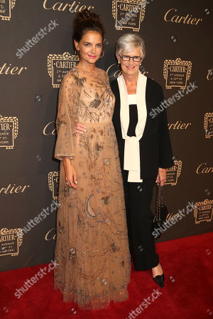 Katie Holmes, left, and her mom Kathleen Holmes attend the Cartier Fifth Avenue Mansion grand reopening celebration, in New York