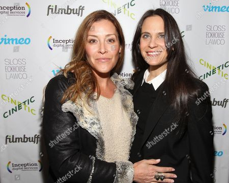 Actress Paige Dylan and Amy Kopperman are seen at Cinetic Media's Annual Sundance Party 2015 at Zoom, in Park City, Utah