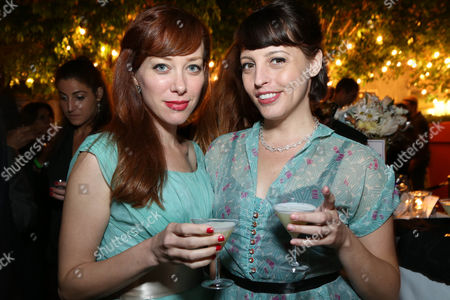 Alie Ward and Georgia Hardstark attend the Covenant House California's All Star Mixology Competition on at the Mondrian in West Hollywood, Calif