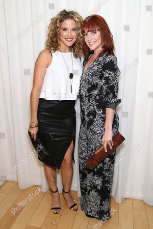 Alexis Carra and Gina Starbuck attend the Covenant House California's All Star Mixology Competition on at the Mondrian in West Hollywood, Calif