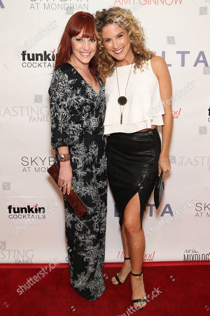 Gina Starbuck and Alexis Carra attend the Covenant House California's All Star Mixology Competition on at the Mondrian in West Hollywood, Calif
