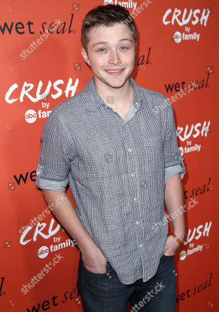"Sterling Knight arrives at the ""Crush by ABC Family"" collection launch party hosted ABC Family and Wet Seal at The London hotel in West Hollywood, Calif. on"