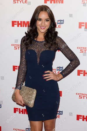 Stock Photo of Seren Gibson arrives for the FHM's 100 Sexiest Women 2013 Party in London