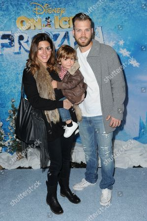 Jamie-Lynn Sigler and Cutter Dykstra with son Beau attend Frozen celebrity premiere presented by Disney On Ice held at the Staples Center on Thursday, Dec.10, 2015, in Los Angeles