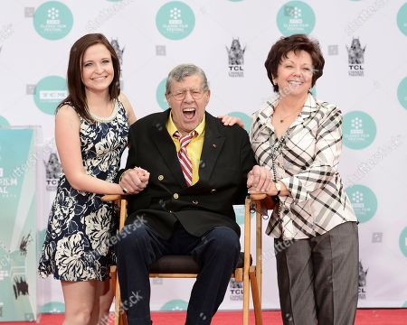 Editorial photo of Jerry Lewis Hand and Footprint Ceremony, Los Angeles, USA - 12 Apr 2014