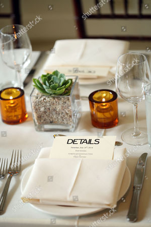 Stock Image of Justin Theroux and Dan Peres celebrate the August issue of DETAILS at The Sunset Tower Hotel on in West Hollywood, Calif