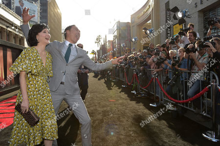 "Kaho Minami and Ken Watanabe arrive at LA Premiere of ""Godzilla"" at the Dolby Theatre on in Los Angeles"
