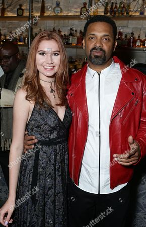 """Serena Laurel and Mike Epps are seen at """"Meet the Blacks"""" Premiere after party at the Le Jardin, in Los Angeles"""