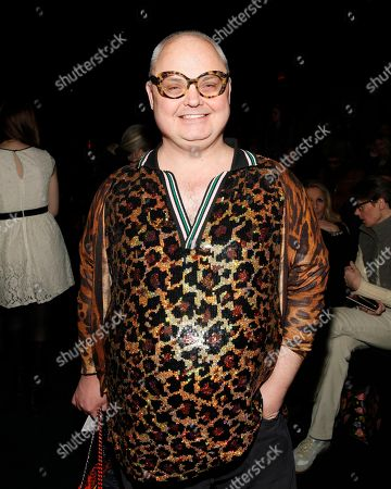 Mickey Boardman attends the Anna Sui 2014 Fall/Winter Collection during Mercedes Benz Fashion Week, in New York