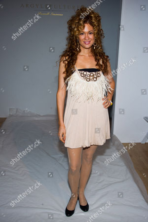 Stock Image of Miri Ben-Ari attends the Argylecuture by Russell Simmons Spring 2015 collection show during Fashion Week on in New York