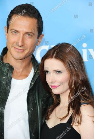Sasha Roiz, left, and Bitsie Tulloch attend the NBC Universal Winter TCA Tour at the Langham Huntington Hotel, in Pasadena, Calif
