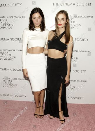 """Sadie Newman, left, and Abi Fox, right, attend the premiere of """"Hear Our Stories. Share Yours."""" on in New York"""