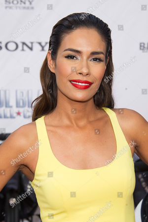 "Daniella Alonso attends the premiere of ""Paul Blart: Mall Cop 2"" at AMC Loews Lincoln Square, in New York"