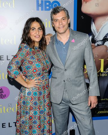 """Jenni Konner and Jason Benjamin attend the premiere of HBO Documentary Films' """"Suited"""", at BAM Rose Cinemas, in New York"""