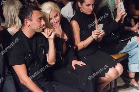 Nicola Formichetti and Lady Gaga attend the Brandon Maxwell Spring/Summer 2016 show during Fashion Week on in New York