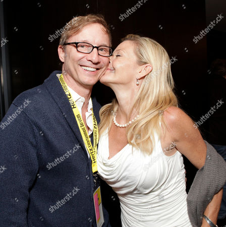 Stock Photo of Jim Burke and actress/photographer Christina Simpkins attend the Produced By Conference meeting and pre-party on in Culver City, Calif