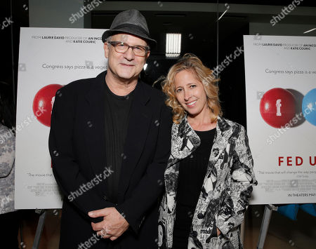 Albert Brooks and Kimberly Shlain attend Radius' Los Angeles Premiere of FED UP at Pacific Design Center on in Los Angles