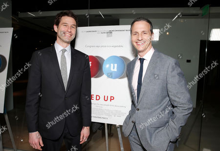 Radius' co-presidents Jason Janego and Tom Quinn attend Radius' Los Angeles Premiere of FED UP at Pacific Design Center on in Los Angles