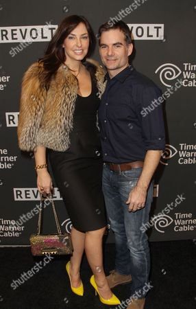 "Stock Picture of Jennifer Brooke Gordon and Jeff Gordon are seen at ""Revolt's Music Revolution Party"" on in New York"