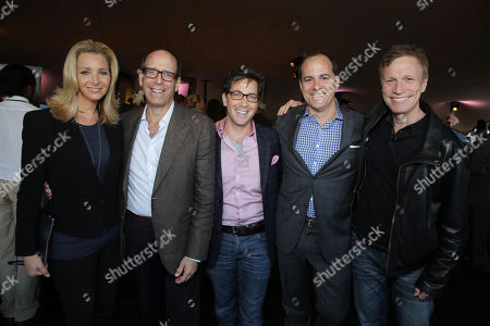 Lisa Kudrow, Matthew C. Blank, Showtime Chairman and Chief Executive Officer, Dan Bucatinksy, David Nevins, President Of Entertainment, Showtime Networks Inc. and Don Roos seen at the Showtime 2013 TCA Party, on Monday, July, 29, 2013 in Beverly Hills, Calif