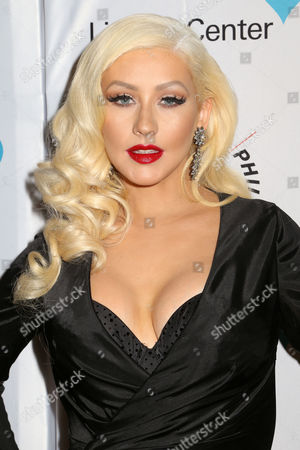 Stock Image of Christina Aguilera attends Sinatra: Voice for a Century concert at David Geffen Hall, in New York