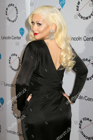 Stock Picture of Christina Aguilera attends Sinatra: Voice for a Century concert at David Geffen Hall, in New York