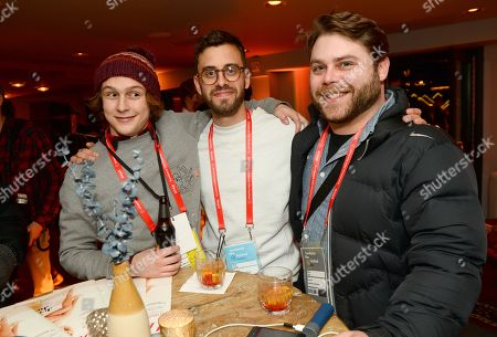 Stock Picture of Logan Miller, from left, Matt Sobel and Nick Case attend the Next Gen Cocktail Party co-hosted by The Hollywood Reporter and Hollywood Foreign Press Association at The Sundance Film Festival presented by American Airlines, in Park City, Utah