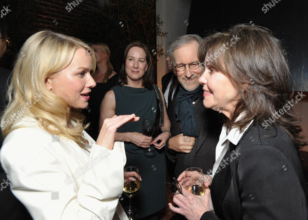Stock Picture of From left, Naomi Watts, Kathleen Kennedy, Steven Spielberg and Sally Field attend The Hollywood Reporter Nominees' Night at Spago, in Beverly Hills, Calif